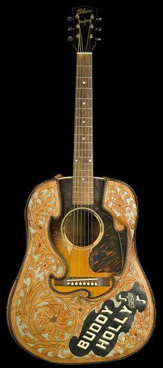 BUDDY HOLLY - Cuir house - Guitar