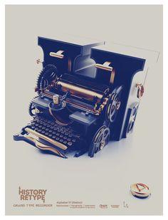 History Retype Poster | Abduzeedo Design Inspiration