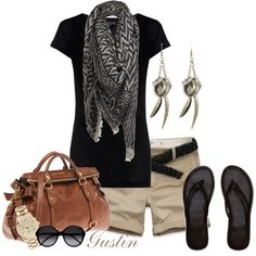 summer outfit with scarf
