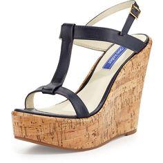 c17f9491a3af Shop for Erin Cork Leather Wedge Sandal