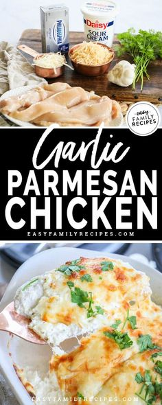 Sep 2019 - Low Carb Keto Garlic Parmesan Chicken · Easy Family Recipes Ketogenic Recipes, Diet Recipes, Cooking Recipes, Healthy Recipes, Dessert Recipes, Jar Recipes, Diet Meals, Cookbook Recipes, Pasta Recipes