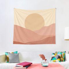 """Minimalist Boho Chic Landscape"" Tapestry by ind3finite | Redbubble"