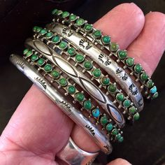 Sweet Stack!!! Vintage Navajo and Zuni bracelets....can be worn together or separately.....sweet!