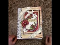 PART 1 TUTORIAL 7 X 9 MINI ALBUM with HEARTFELT CREATIONS ALL GLAMMED UP PAPER DESIGNS BY SHELL - YouTube
