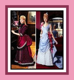Victorian Stunning Draped Bustle Gown with Train-Costume Sewing Pattern-Two Styles-Tiered Bustle Back-Uncut Size 14-20-OOP -Super Rare by FarfallaDesignStudio on Etsy