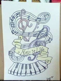Drawing Of Music = Life.