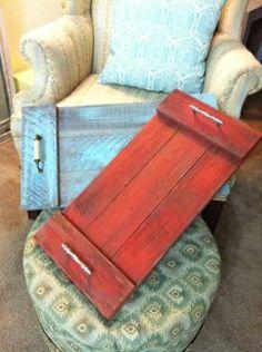 Palette wood DIY TV Dinner Trays