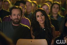 "Riverdale -- ""Chapter Six: Faster, Pussycats! Kill! Kill!"" -- Image Number: RVD106a_ 0609.jpg -- Pictured (L-R): Luke Perry as Fred Andrews and Marisol Nichols as Hermione Lodge -- Photo: Diyah Pera/The CW -- © 2017 The CW Network. All Rights Reservedpn"