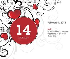 Make a fully personalized countdown calendar for you loved one. Flip-stand, 14-day countdown just $20.99. Www.creativecountdown.com