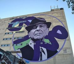 #LeonardCohen by @kevinledo in Montreal, Canada.