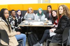 Students and mentors today at our #WomenChangeMCR event.  Our films about the #inspirational from #Manchester. Link below: