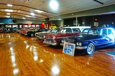 A car lovers dream! This hot rod dealership has transformed a former skating rink into a showroom and museum. Vehicles on display include restored muscle, classic and exotic cars, vintage racers, hot rods and motorcycles. Also on display are museum quality cars and auto related memorabilia. The dealership offers a gift shop, café and private-event area. Free parking and admission. 100% of donations benefit the local YMCA. Open 10:00 a.m. - 6:00 p.m. Monday through Friday; 10 a.m. - 4 p.m…