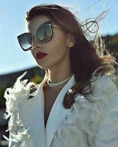 bdd3773a0996d Luana of Last Minute Couture in the STORMY cat eye sunglasses by DITA  Eyewear. Sunglasses