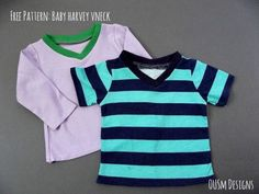Today we're sharing a free 0-3 month tee pattern with you. Introducing the Baby Harvey Vneck, a companion to our full size Harvey Vneck pattern. You'll be able to download your free pattern at the bottom of the post. The start of sewing for the little one I'm expecting led me to want to share …