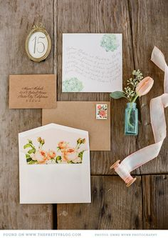 Pretty  wedding invitiations