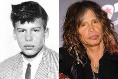 Steven Tallarico (a.k.a. Tyler) as a Freshman at Walt Whitman Junior High School in Yonkers, New York, in 1964 and Steven Tyler in 2011