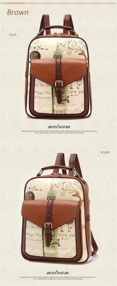 Mschastiy Brand PU leather Printing Backpack Women School Bags for Teenage  Girls Cute Rucksack Vintage Laptop Backpacks Female-in Backpacks from  Luggage ... 748abff15d6f0