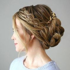 Elegant accented updo by Polish Salon