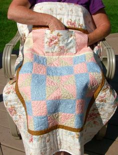 Wheel Chair Lap Quilts with pockets, or great for seniors, click here. - Baby Quilts and Lap Quilts with Pockets are my specialty!