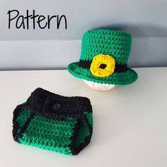CROCHET PATTERN St Patrick's Day Irish Baby Irish Irish Twins, Irish Baby, Baby Patterns, Crochet Patterns, Half Double Crochet Decrease, Baby Boy Gifts, Sewing A Button, Yarn Needle, Single Crochet