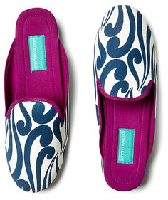 Isabella Slippers, Navy | Make Yourself Comfortable | One Kings Lane