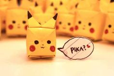 Tutorial Pikachu Origami