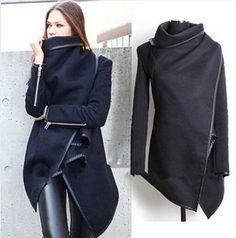 New 2014 Fashion Winter Worsted Coat Women Thick Slim desigual coat Outerwear Long sleeve Jackets Women Plus size #coatswomen