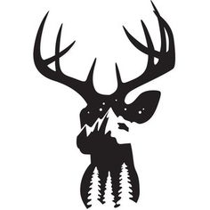 Silhouette Design Store - Product ID merry christmas Deer Head Silhouette, Animal Silhouette, Silhouette Design, Silhouette Cameo, Silhouette Vector, Hunting Decal, Best Electric Scooter, Mountain Designs, Pyrography