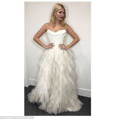 'It's a WEDDING dress: Fans went wild for Holly Willoughby's bridal gown she wore to present Dancing On Ice on Sunday night's show