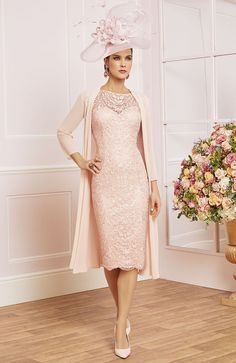 Veni Infantino 991489 Mother Wedding Outfit - Colour Navy & Antique Rose - Price Buy online with next day delivery - money-back guarantee. Mother Of The Bride Fashion, Mother Of Bride Outfits, Mothers Dresses, Bride Dresses, Mature Wedding Dresses, Wedding Outfits, Cream Outfits, Plus Size Brides, Formal Wear Women