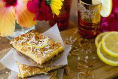 Lemon Coconut Slice Recipe | Eat Drink Paleo