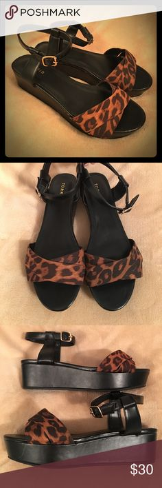 🆕Torrid Leopard Wide Sandals New, no box. They were tried on and walked around in briefly. Soles have fuzzy anti-guard that dust clings too, so they look a bit dusty. A few scratches on sides from closet storage, nothing noticeable. See last pic for example. Wide width. torrid Shoes Sandals