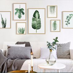 Wall Hangings Green Fresh Plant Leaf Canvas Print Wall Picture Home Sofa Modern Nordic Decor & Garden Leaf Wall Art, Wall Art Decor, Wall Art Prints, Leaf Art, Canvas Prints, Interior Design Minimalist, Minimalist Decor, Modern Minimalist, Minimalist Painting