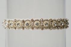 The Lori garter by La Gartier  Custom Garters. For the bride who loves pearls and sparkle. Now available for purchase on the website at www.lagartier.com