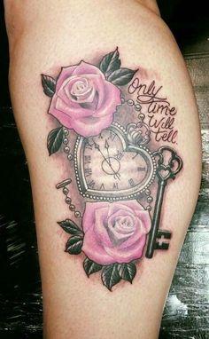 Yes that's okay – New Tattoo Models – heartattack Tattoo Femeninos, Key Tattoos, Watch Tattoos, Dope Tattoos, Girly Tattoos, Skull Tattoos, Pretty Tattoos, Beautiful Tattoos, Body Art Tattoos