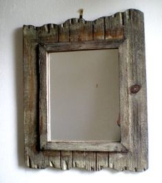 Rustic Wooden Wall Mirror
