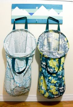 "Learn how to sew a ""Stay Open"" Laundry hamper that has our internal wire frame inserts in it."