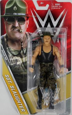 Sgt. Slaughter - WWE Series 69 Toy Wrestling Action Figure