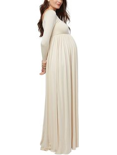 Maternity Dress for Women Photography Props Gown Wrap Maxi Dresses V Neck Sleevless Pregnant Dress Clothes for Photo Shoot Wedding Evening Party Elegant Loose Plus Size Cloth Swing Dress