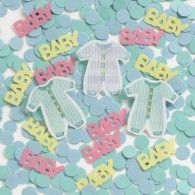 Buy Baby Shower Baby Clothes Confetti - and Find More Children's Baby Shower Party Supplies enjoy up to off. Baby Shower Party Supplies, Baby Shower Parties, Shower Baby, Pink Happy Birthday, Baby Shower Table Decorations, Paper Confetti, Baby Words, Party Shop, Babyshower