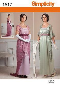 1517Simplicity Creative Group - Misses' Edwardian Style Dresses