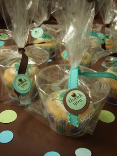 cupcake favors (love this party!)