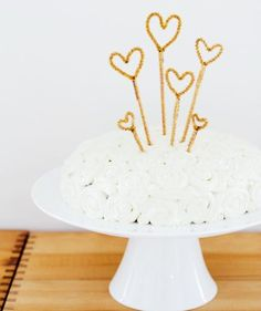 Sparkly Cake Topper: Get creative and twist glittery pipe cleaners into the birthday girl's initials, age, or favorite shape. This is the perfect DIY for a last-minute birthday celebration or other special occasion, since the entire how-to comes together in just minutes.