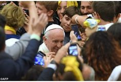 (Vatican Radio) Why does God let children suffer? How can kids change the world? And how can they overcome their fear of growing up? Those were the soul-searching questions that three children asked Pope Francis on Friday during a meeting with members of an organisation for middle school...