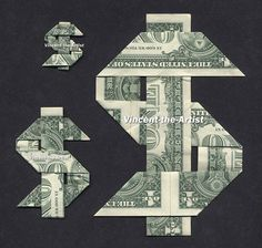 DOLLAR SIGN Money Origami