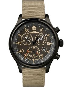 Then there was the most suitable outdoor watch for every excursion, journey, or voyage anywhere on the map. That's what the Expedition® Field Chronograph is built for along with maintaining reliability and functionality. Timex