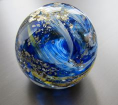 Glass Earth Paperweight by nautical2004 on Etsy, $20.00