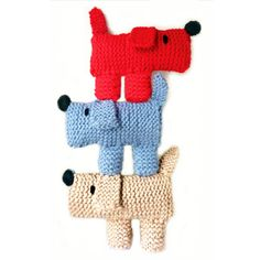 Scruff The Dog Learn To Knit Kit by Gift Horse Knitting Kits, the perfect gift for Explore more unique gifts in our curated marketplace. Knitting Kits, Knitting For Kids, Easy Knitting, Knitting For Beginners, Loom Knitting, Knitting Projects, Crochet Projects, Crochet Dog Patterns, Knitting Patterns