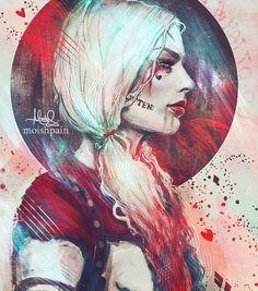"""harleenfrancesqvinzel: """"Harley Quinn by moishpain """""""