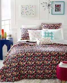 Closeout! Whim by Martha Stewart Collection Pretty in Poppy Twin/Twin XL Quilt…